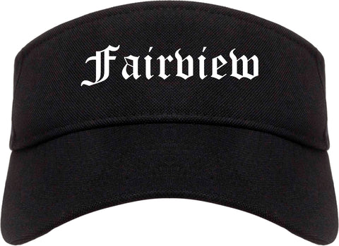 Fairview North Carolina NC Old English Mens Visor Cap Hat Black