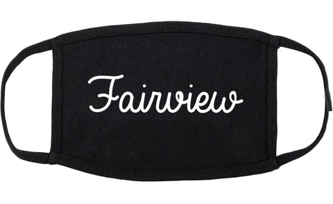 Fairview Tennessee TN Script Cotton Face Mask Black