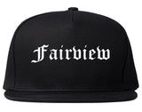 Fairview Texas TX Old English Mens Snapback Hat Black