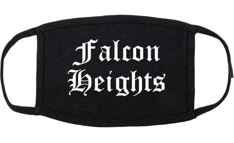 Falcon Heights Minnesota MN Old English Cotton Face Mask Black