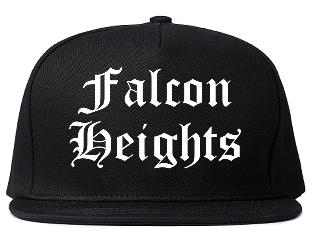 Falcon Heights Minnesota MN Old English Mens Snapback Hat Black