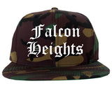 Falcon Heights Minnesota MN Old English Mens Snapback Hat Army Camo