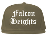 Falcon Heights Minnesota MN Old English Mens Snapback Hat Grey