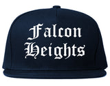 Falcon Heights Minnesota MN Old English Mens Snapback Hat Navy Blue