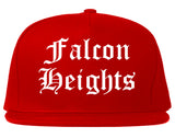 Falcon Heights Minnesota MN Old English Mens Snapback Hat Red