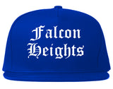 Falcon Heights Minnesota MN Old English Mens Snapback Hat Royal Blue
