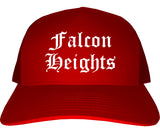 Falcon Heights Minnesota MN Old English Mens Trucker Hat Cap Red