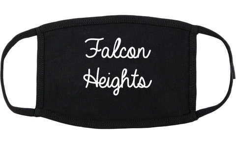 Falcon Heights Minnesota MN Script Cotton Face Mask Black