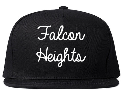 Falcon Heights Minnesota MN Script Mens Snapback Hat Black