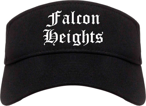 Falcon Heights Minnesota MN Old English Mens Visor Cap Hat Black