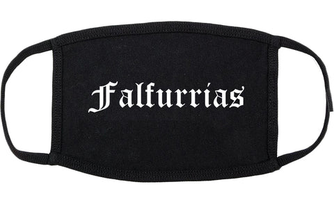 Falfurrias Texas TX Old English Cotton Face Mask Black