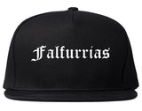 Falfurrias Texas TX Old English Mens Snapback Hat Black