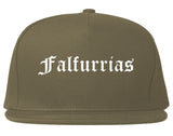 Falfurrias Texas TX Old English Mens Snapback Hat Grey