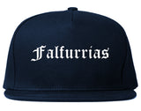 Falfurrias Texas TX Old English Mens Snapback Hat Navy Blue