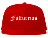 Falfurrias Texas TX Old English Mens Snapback Hat Red