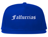 Falfurrias Texas TX Old English Mens Snapback Hat Royal Blue