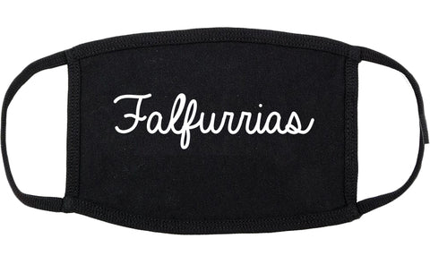 Falfurrias Texas TX Script Cotton Face Mask Black