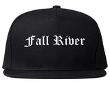 Fall River Massachusetts MA Old English Mens Snapback Hat Black