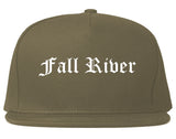 Fall River Massachusetts MA Old English Mens Snapback Hat Grey