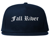 Fall River Massachusetts MA Old English Mens Snapback Hat Navy Blue