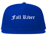 Fall River Massachusetts MA Old English Mens Snapback Hat Royal Blue