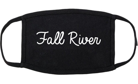 Fall River Massachusetts MA Script Cotton Face Mask Black