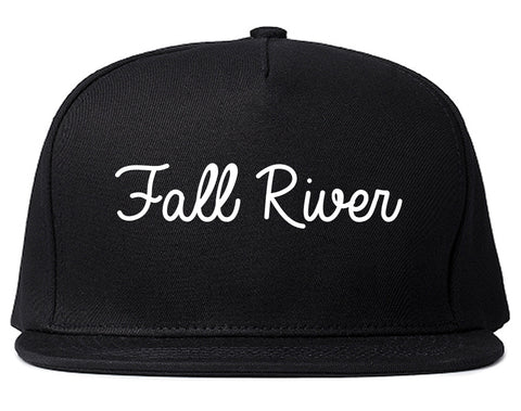 Fall River Massachusetts MA Script Mens Snapback Hat Black