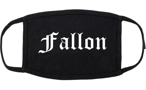 Fallon Nevada NV Old English Cotton Face Mask Black
