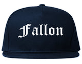 Fallon Nevada NV Old English Mens Snapback Hat Navy Blue