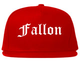 Fallon Nevada NV Old English Mens Snapback Hat Red