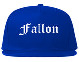Fallon Nevada NV Old English Mens Snapback Hat Royal Blue