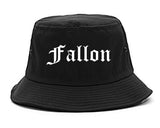 Fallon Nevada NV Old English Mens Bucket Hat Black