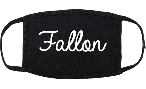 Fallon Nevada NV Script Cotton Face Mask Black
