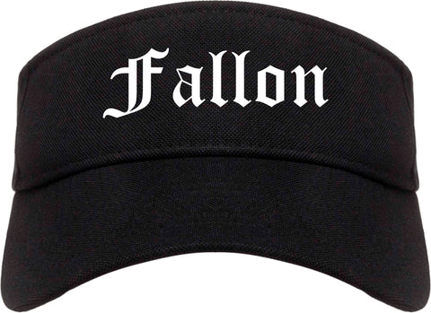 Fallon Nevada NV Old English Mens Visor Cap Hat Black