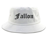 Fallon Nevada NV Old English Mens Bucket Hat White