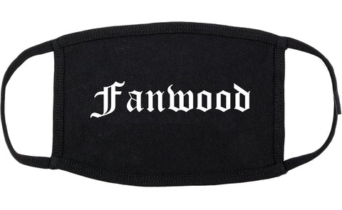 Fanwood New Jersey NJ Old English Cotton Face Mask Black
