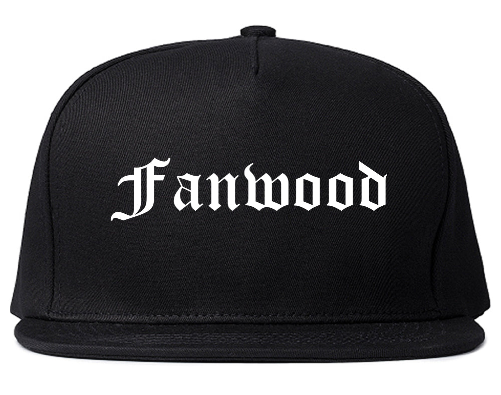 Fanwood New Jersey NJ Old English Mens Snapback Hat Black