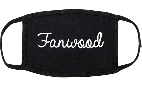 Fanwood New Jersey NJ Script Cotton Face Mask Black