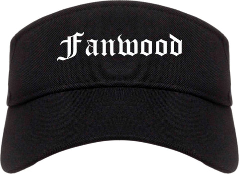 Fanwood New Jersey NJ Old English Mens Visor Cap Hat Black