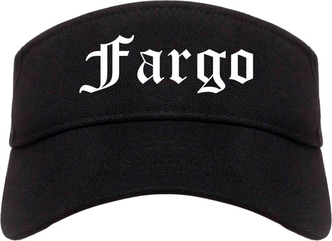 Fargo North Dakota ND Old English Mens Visor Cap Hat Black