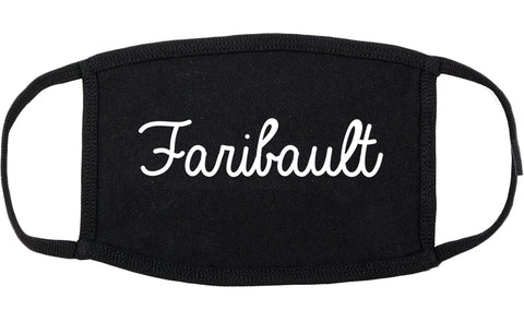 Faribault Minnesota MN Script Cotton Face Mask Black