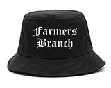 Farmers Branch Texas TX Old English Mens Bucket Hat Black