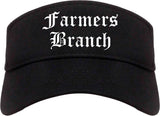 Farmers Branch Texas TX Old English Mens Visor Cap Hat Black