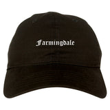 Farmingdale New York NY Old English Mens Dad Hat Baseball Cap Black