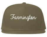 Farmington Utah UT Script Mens Snapback Hat Grey