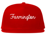 Farmington Utah UT Script Mens Snapback Hat Red