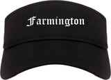 Farmington Utah UT Old English Mens Visor Cap Hat Black