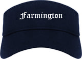 Farmington Utah UT Old English Mens Visor Cap Hat Navy Blue