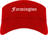 Farmington Utah UT Old English Mens Visor Cap Hat Red