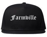 Farmville North Carolina NC Old English Mens Snapback Hat Black